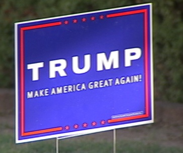 trump yard sign